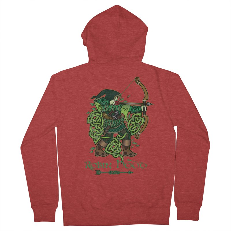 Robin Hood (Full Color Version) Men's French Terry Zip-Up Hoody by Celtic Hammer Club Apparel