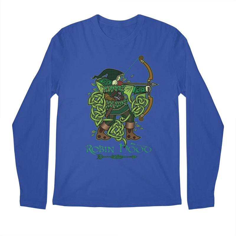 Robin Hood (Full Color Version) Men's Regular Longsleeve T-Shirt by Celtic Hammer Club Apparel