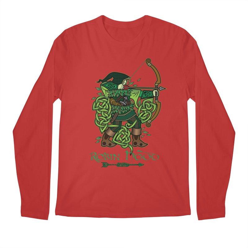 Robin Hood (Full Color Version) Men's Longsleeve T-Shirt by Celtic Hammer Club Apparel