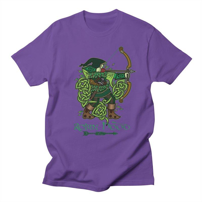 Robin Hood (Full Color Version) Men's T-Shirt by Celtic Hammer Club Apparel