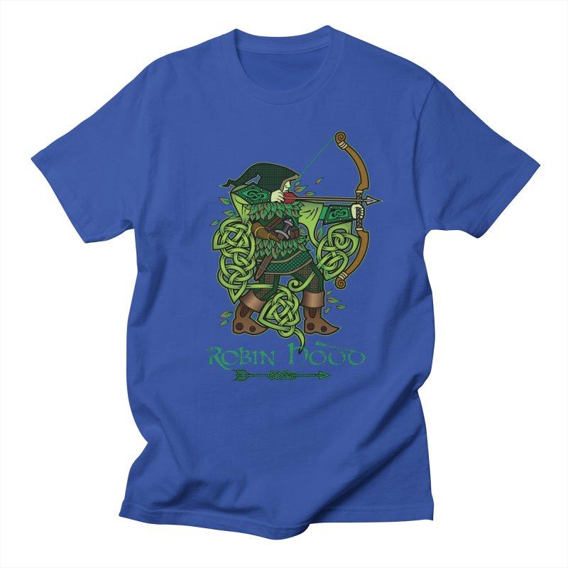 Robin Hood (Full Color Version) Men's Regular T-Shirt by Celtic Hammer Club Apparel