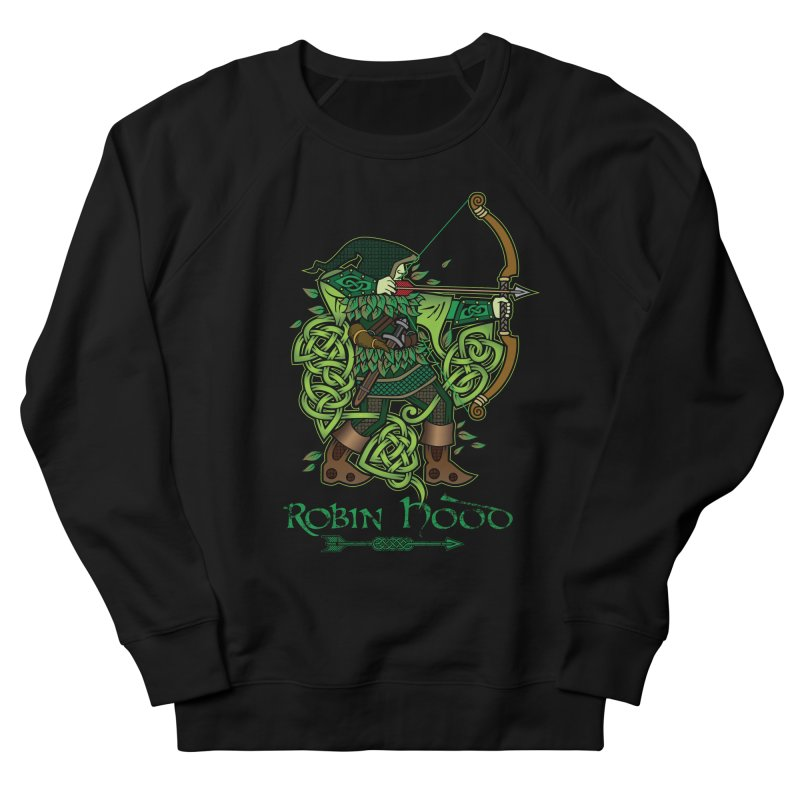 Robin Hood (Full Color Version) Women's French Terry Sweatshirt by Celtic Hammer Club Apparel