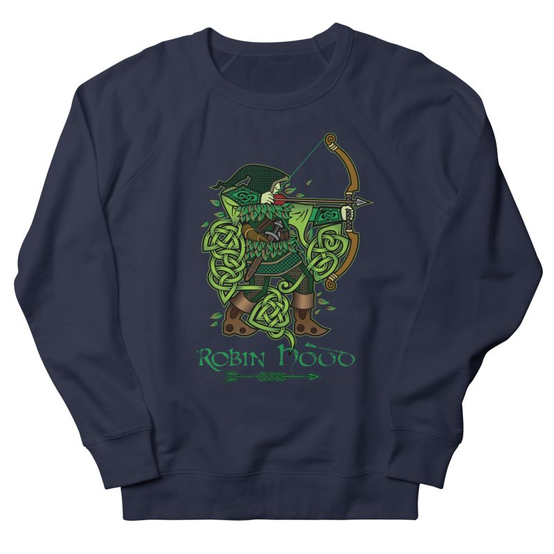 Robin Hood (Full Color Version) Men's French Terry Sweatshirt by Celtic Hammer Club Apparel