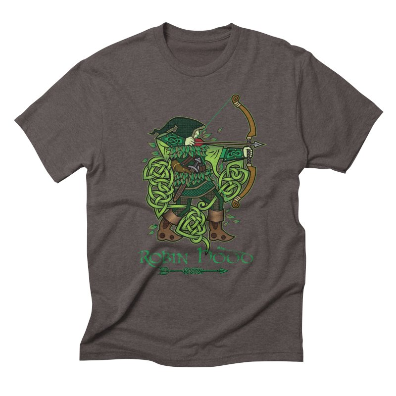 Robin Hood (Full Color Version) Men's Triblend T-Shirt by Celtic Hammer Club Apparel