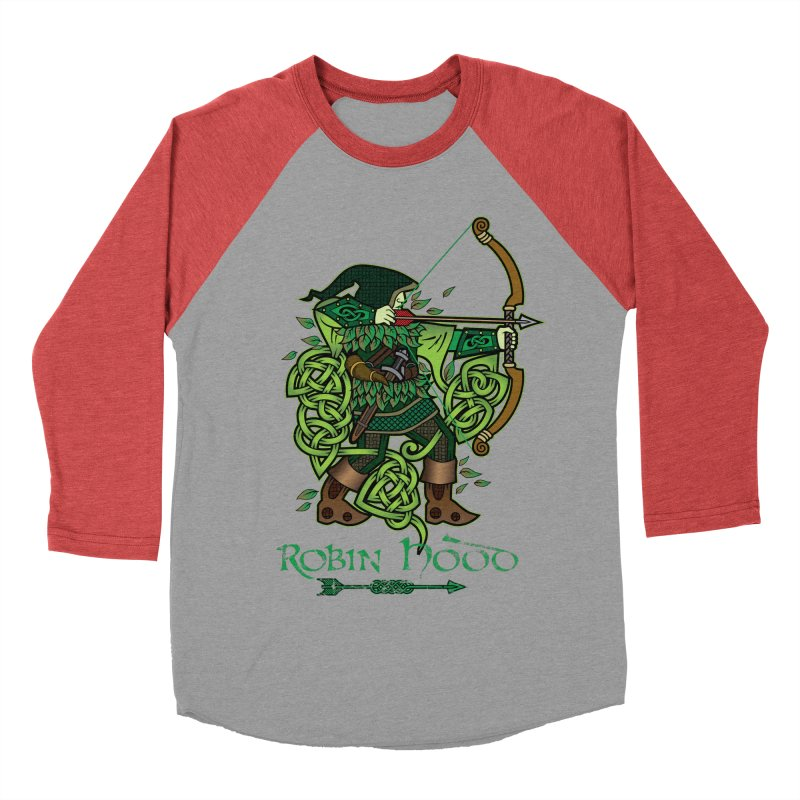 Robin Hood (Full Color Version) Women's Baseball Triblend Longsleeve T-Shirt by Celtic Hammer Club Apparel