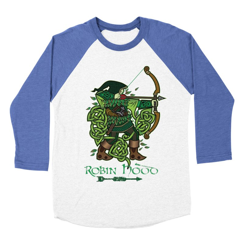 Robin Hood (Full Color Version) Men's Baseball Triblend T-Shirt by Celtic Hammer Club Apparel