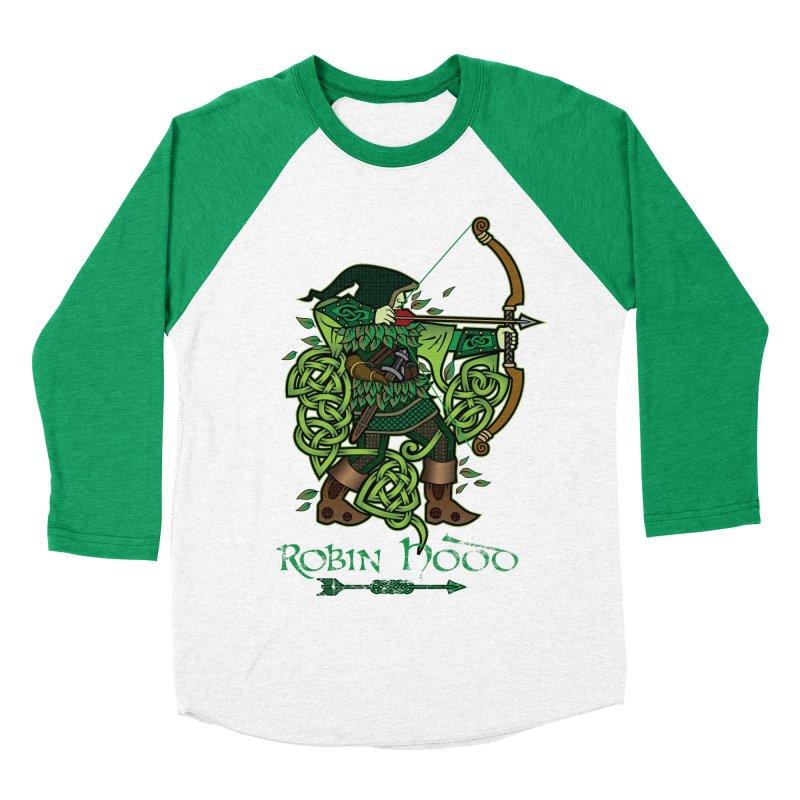 Robin Hood (Full Color Version) Men's Baseball Triblend Longsleeve T-Shirt by Celtic Hammer Club Apparel