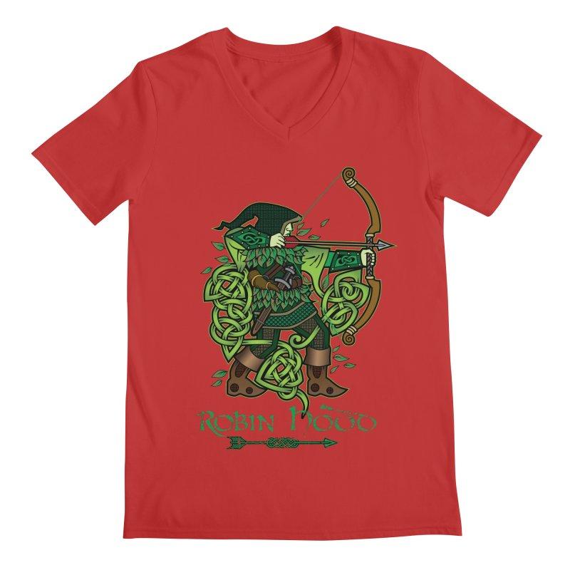 Robin Hood (Full Color Version) Men's Regular V-Neck by Celtic Hammer Club Apparel