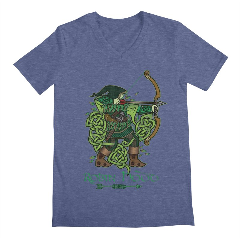 Robin Hood (Full Color Version) Men's V-Neck by Celtic Hammer Club Apparel