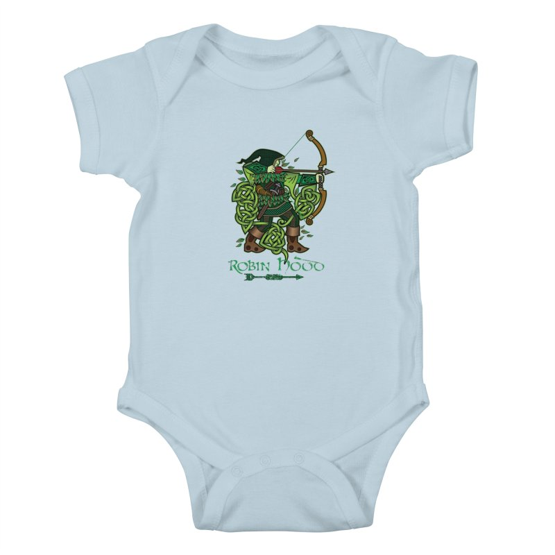 Robin Hood (Full Color Version) Kids Baby Bodysuit by Celtic Hammer Club Apparel