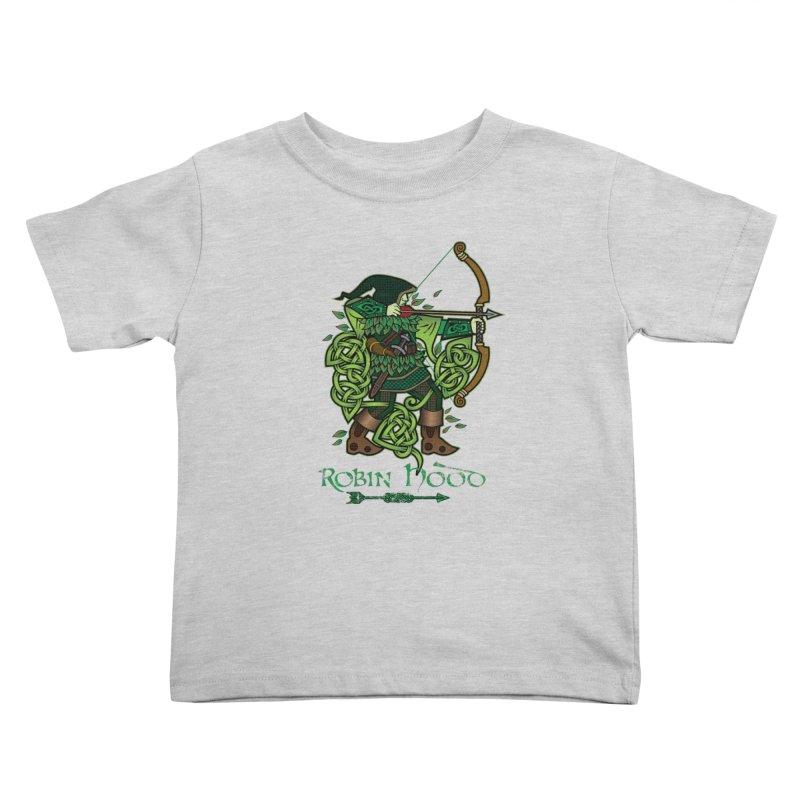 Robin Hood (Full Color Version) Kids Toddler T-Shirt by Celtic Hammer Club