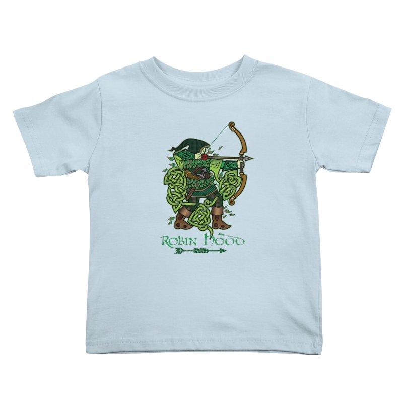 Robin Hood (Full Color Version) Kids Toddler T-Shirt by Celtic Hammer Club Apparel
