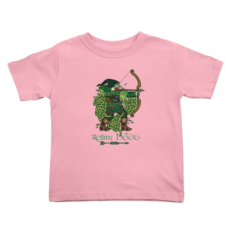 Robin Hood (Full Color Version) Kids Toddler T-Shirt by Celtic Hammer Club Apparel