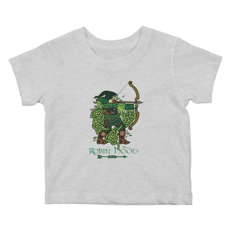 Robin Hood (Full Color Version) Kids Baby T-Shirt by Celtic Hammer Club