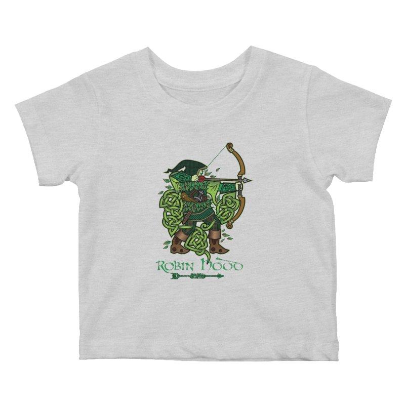 Robin Hood (Full Color Version) Kids Baby T-Shirt by Celtic Hammer Club Apparel