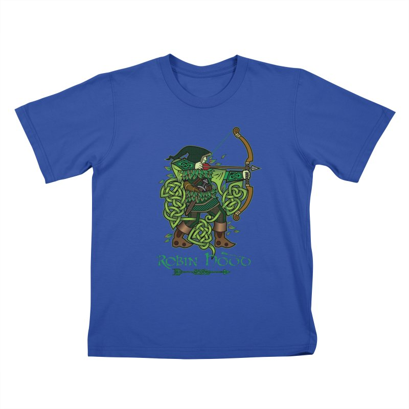 Robin Hood (Full Color Version) Kids T-Shirt by Celtic Hammer Club Apparel