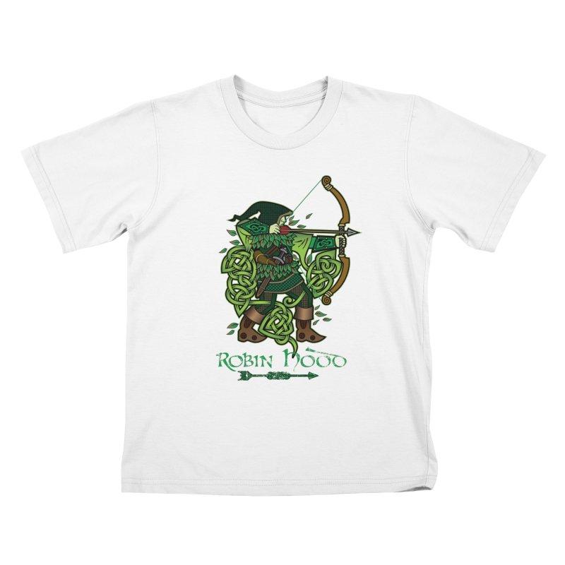 Robin Hood (Full Color Version) Kids T-Shirt by Celtic Hammer Club Apparel