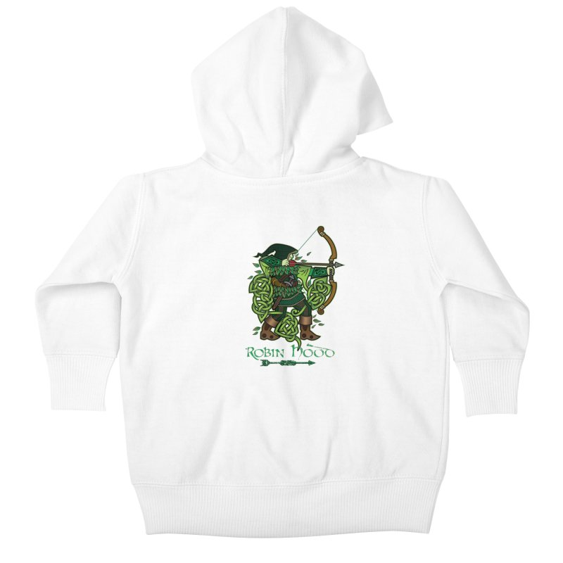 Robin Hood (Full Color Version) Kids Baby Zip-Up Hoody by Celtic Hammer Club Apparel