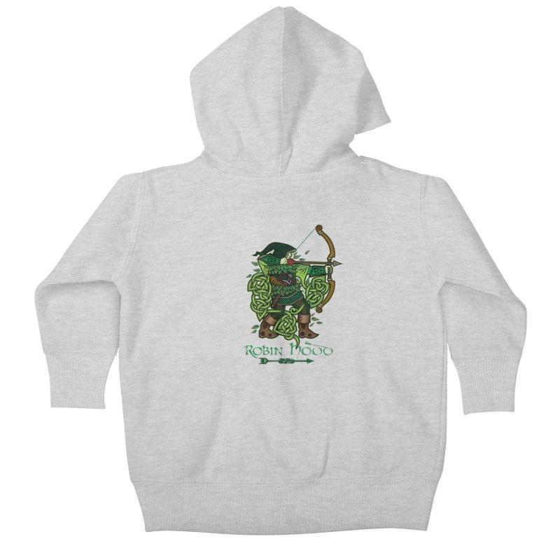 Robin Hood (Full Color Version) Kids Baby Zip-Up Hoody by Celtic Hammer Club Apparel