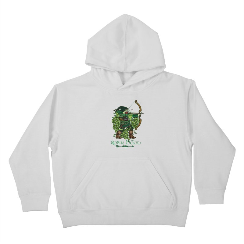 Robin Hood (Full Color Version) Kids Pullover Hoody by Celtic Hammer Club Apparel