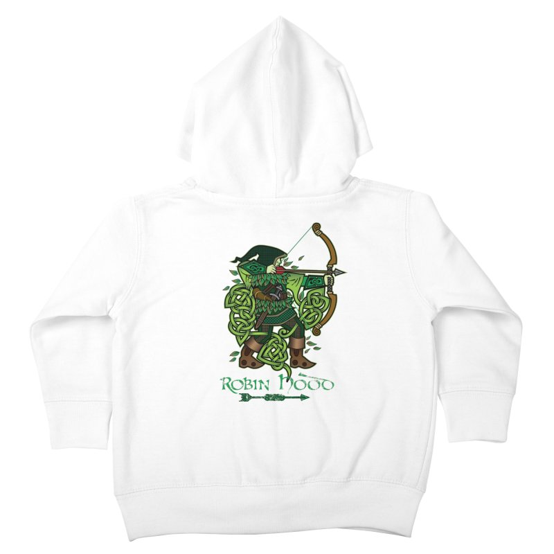Robin Hood (Full Color Version) Kids Toddler Zip-Up Hoody by Celtic Hammer Club Apparel