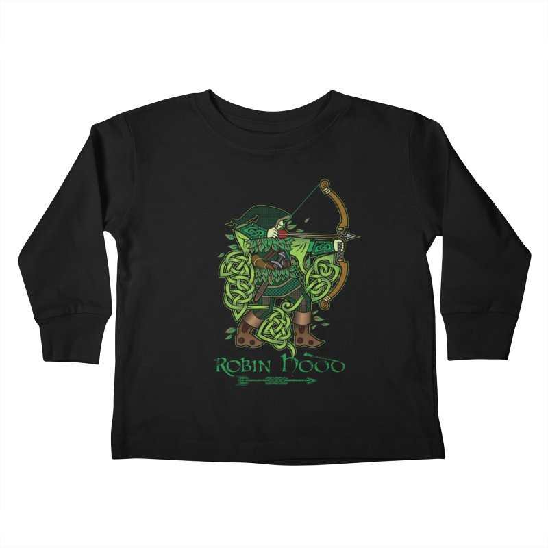Robin Hood (Full Color Version) Kids Toddler Longsleeve T-Shirt by Celtic Hammer Club Apparel