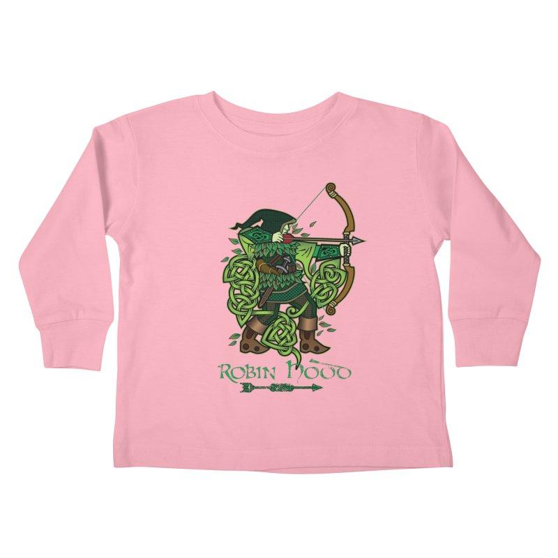 Robin Hood (Full Color Version) Kids Toddler Longsleeve T-Shirt by Celtic Hammer Club Apparel