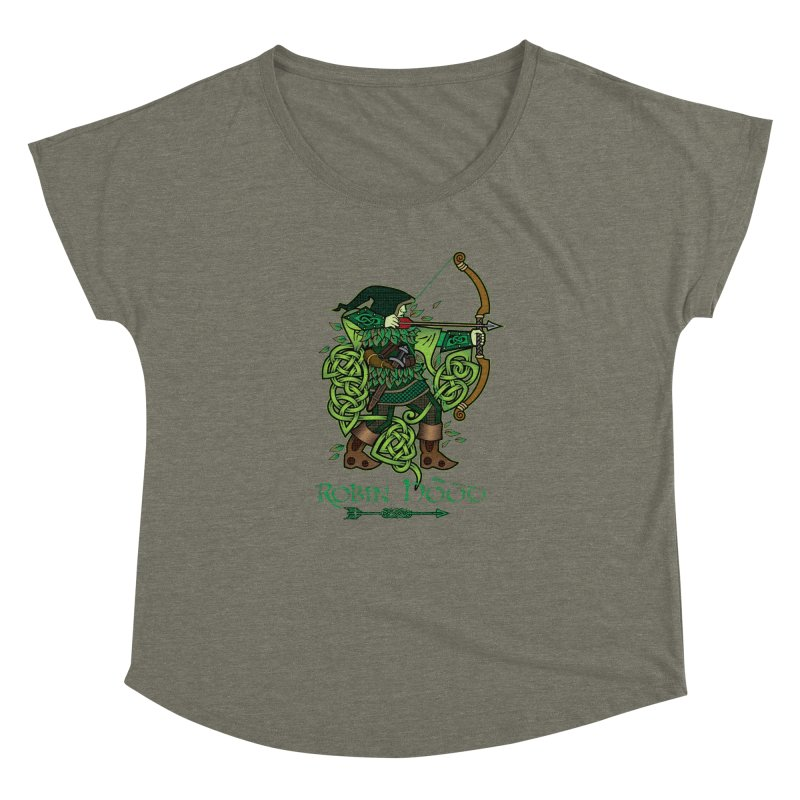 Robin Hood (Full Color Version) Women's Dolman Scoop Neck by Celtic Hammer Club Apparel