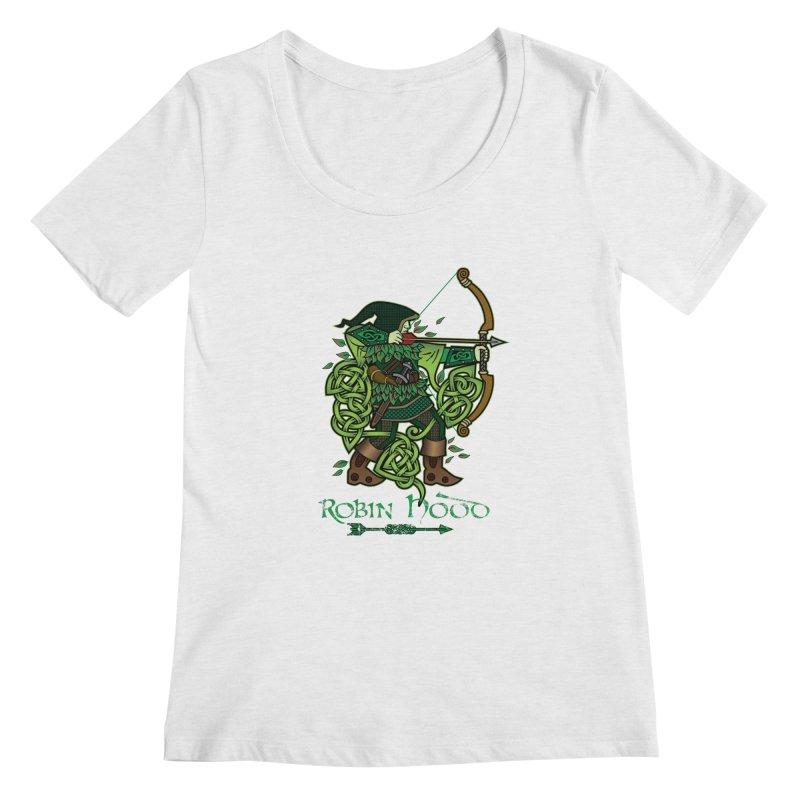 Robin Hood (Full Color Version) Women's Scoopneck by Celtic Hammer Club Apparel
