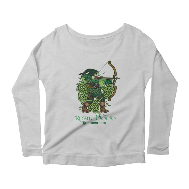 Robin Hood (Full Color Version) Women's Longsleeve Scoopneck  by Celtic Hammer Club Apparel