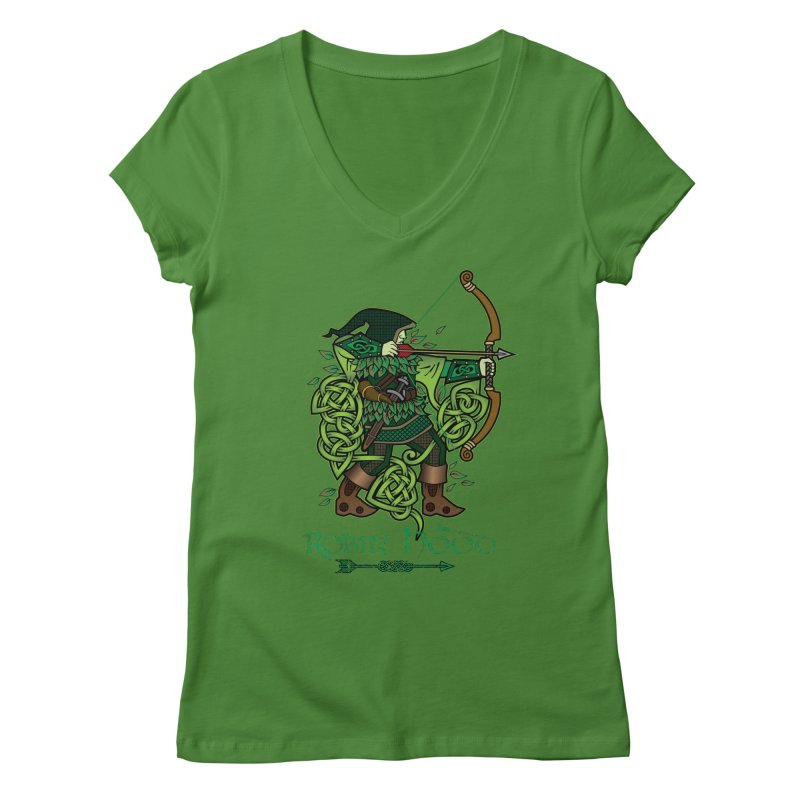 Robin Hood (Full Color Version) Women's Regular V-Neck by Celtic Hammer Club