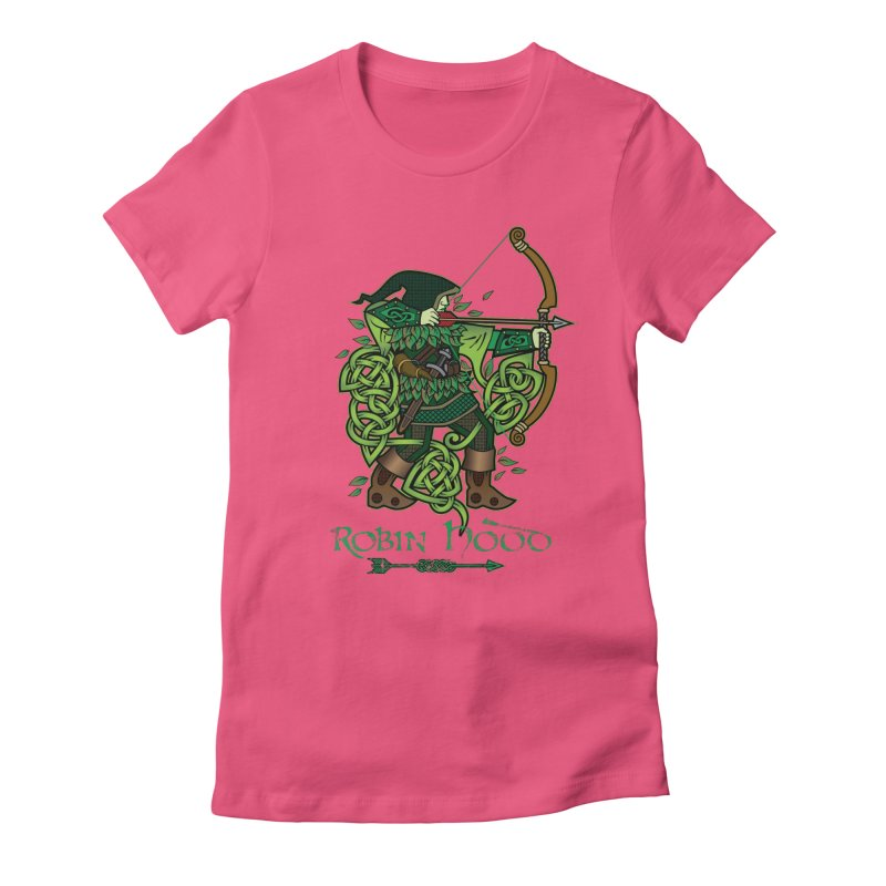 Robin Hood (Full Color Version) Women's Fitted T-Shirt by Celtic Hammer Club Apparel