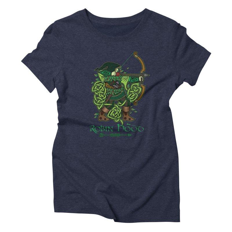 Robin Hood (Full Color Version) Women's Triblend T-Shirt by Celtic Hammer Club Apparel