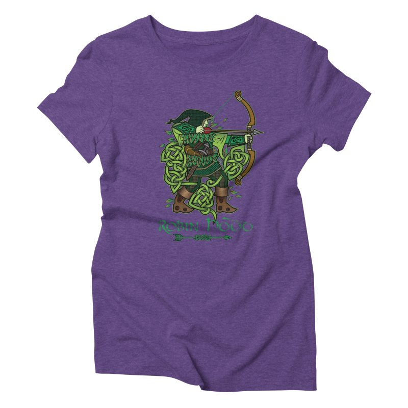 Robin Hood (Full Color Version) Women's Triblend T-Shirt by Celtic Hammer Club Apparel