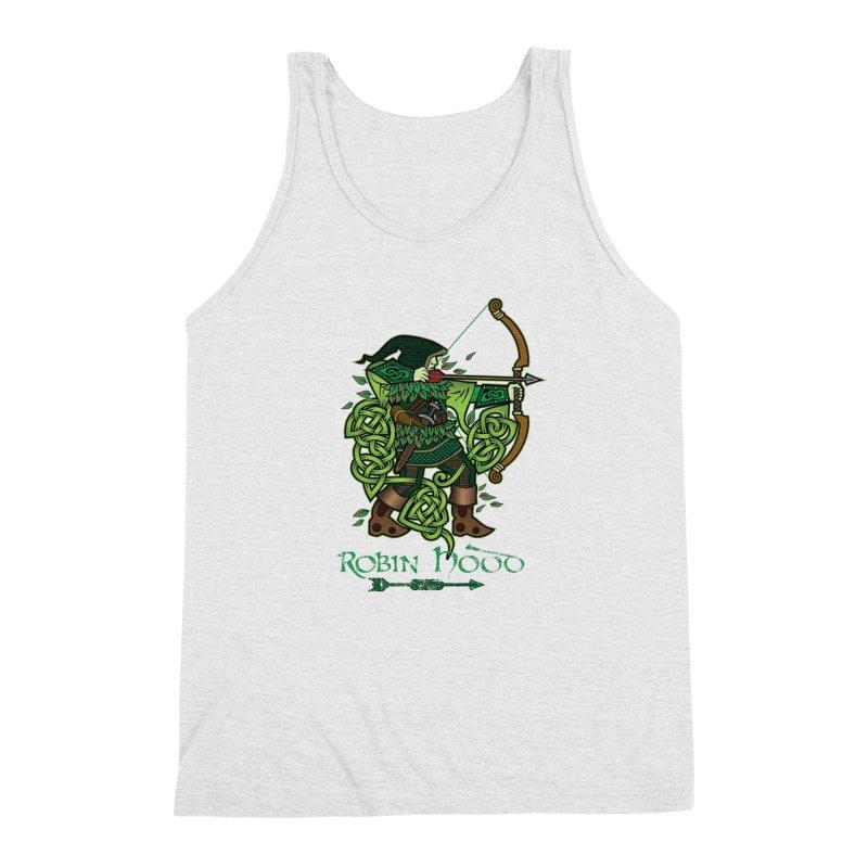 Robin Hood (Full Color Version) Men's Triblend Tank by Celtic Hammer Club Apparel
