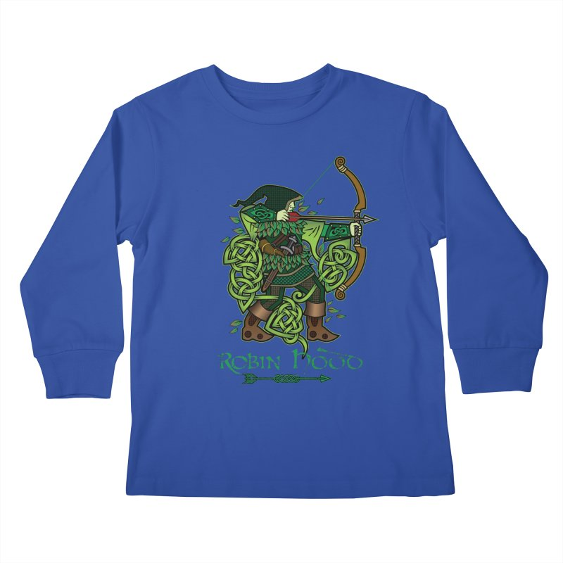 Robin Hood (Full Color Version) Kids Longsleeve T-Shirt by Celtic Hammer Club Apparel