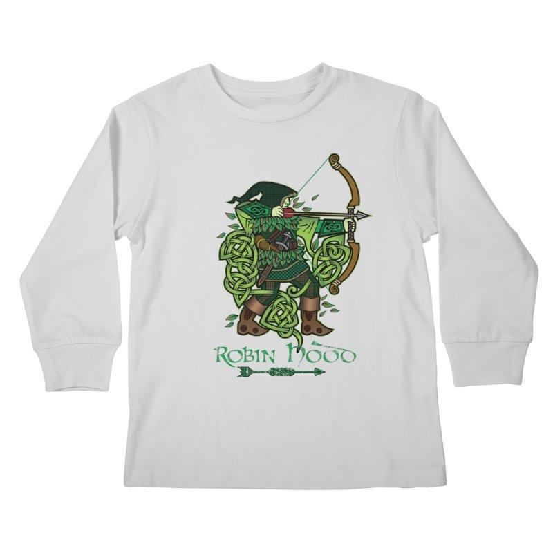 Robin Hood (Full Color Version) Kids Longsleeve T-Shirt by Celtic Hammer Club Apparel