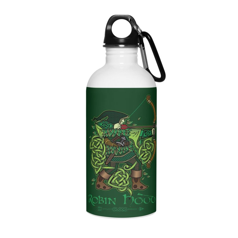 Robin Hood (Full Color Version) Accessories Water Bottle by Celtic Hammer Club Apparel