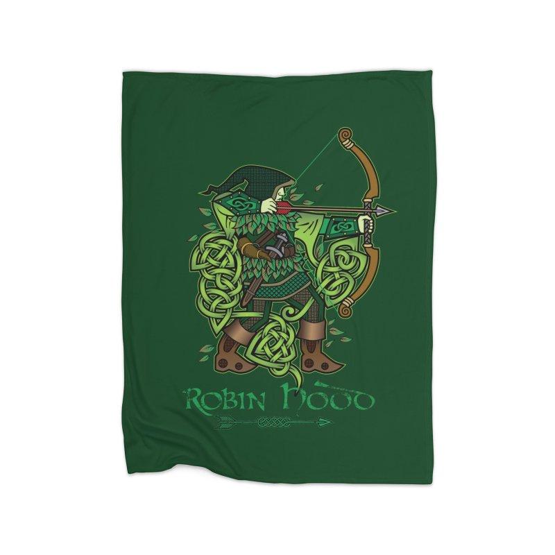 Robin Hood (Full Color Version) Home Blanket by Celtic Hammer Club Apparel