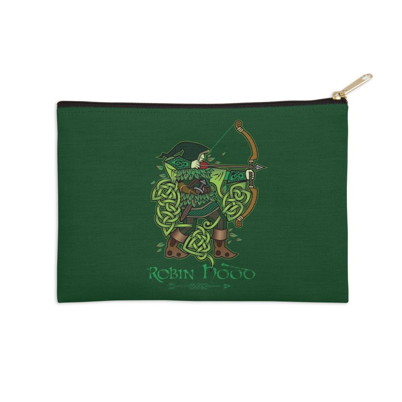 Robin Hood (Full Color Version) Accessories Zip Pouch by Celtic Hammer Club Apparel