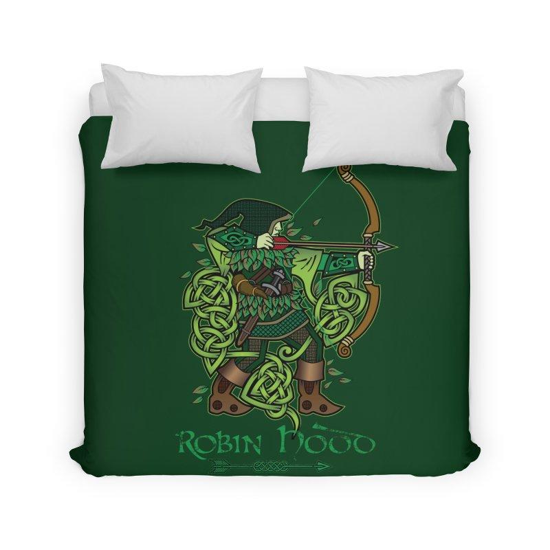 Robin Hood (Full Color Version) Home Duvet by Celtic Hammer Club Apparel