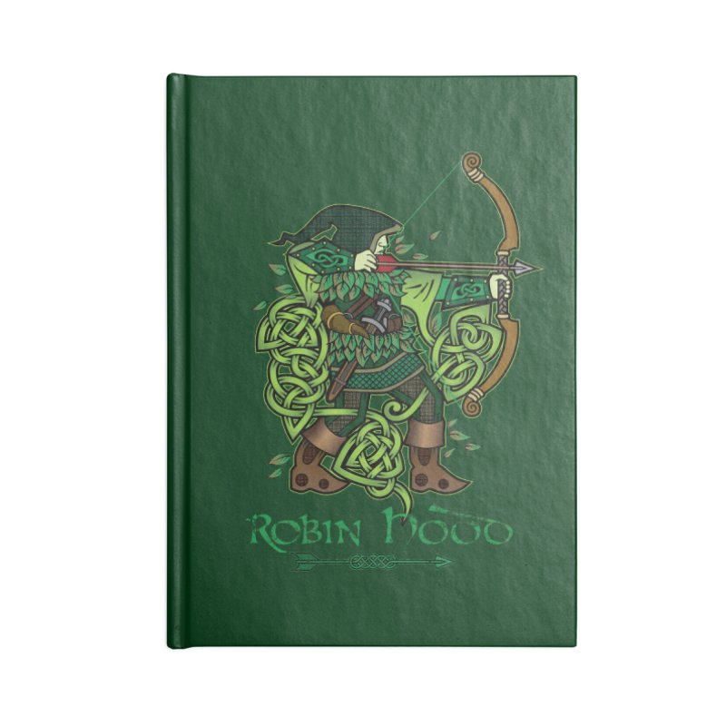 Robin Hood (Full Color Version) Accessories Notebook by Celtic Hammer Club Apparel