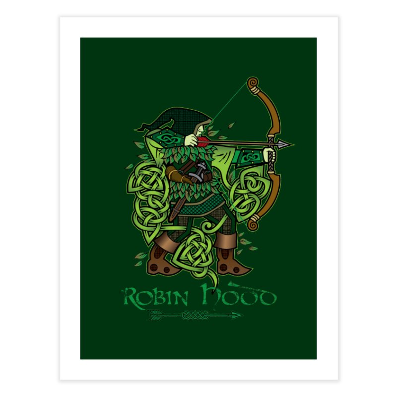 Robin Hood (Full Color Version) Home Fine Art Print by Celtic Hammer Club Apparel