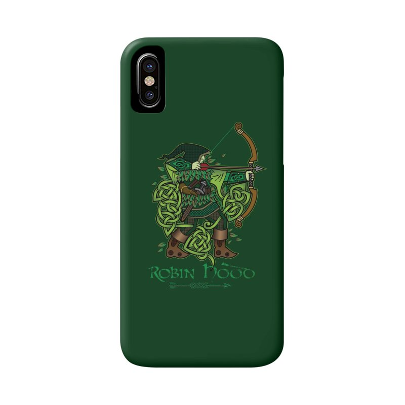 Robin Hood (Full Color Version) Accessories Phone Case by Celtic Hammer Club Apparel