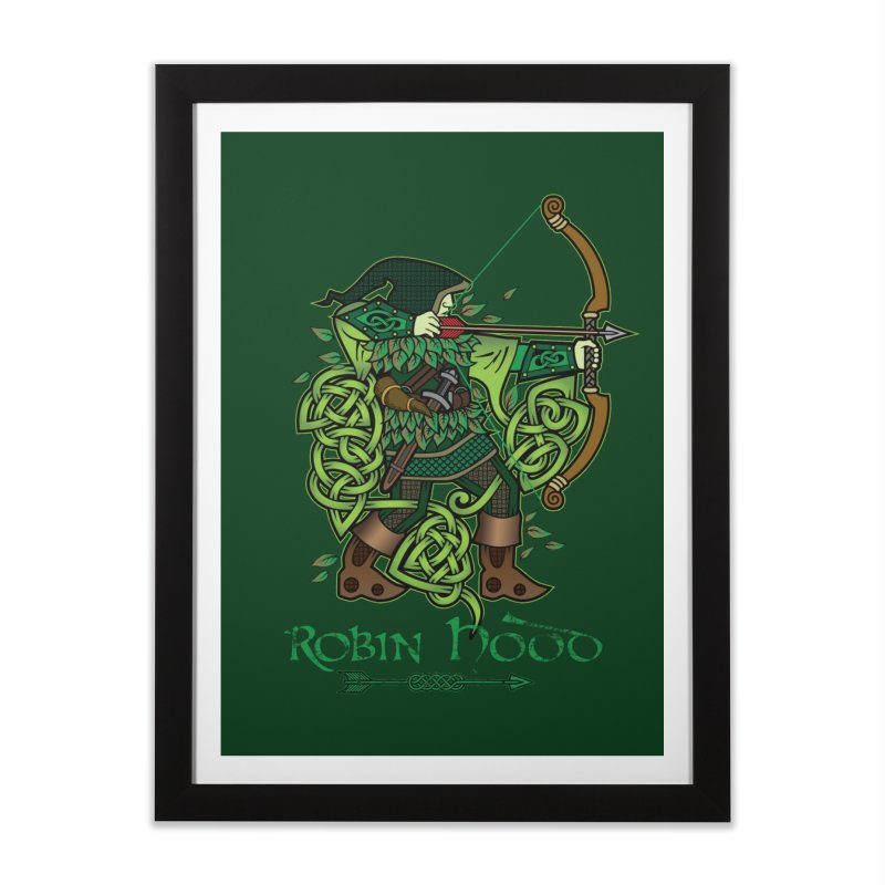 Robin Hood (Full Color Version) Home Framed Fine Art Print by Celtic Hammer Club Apparel