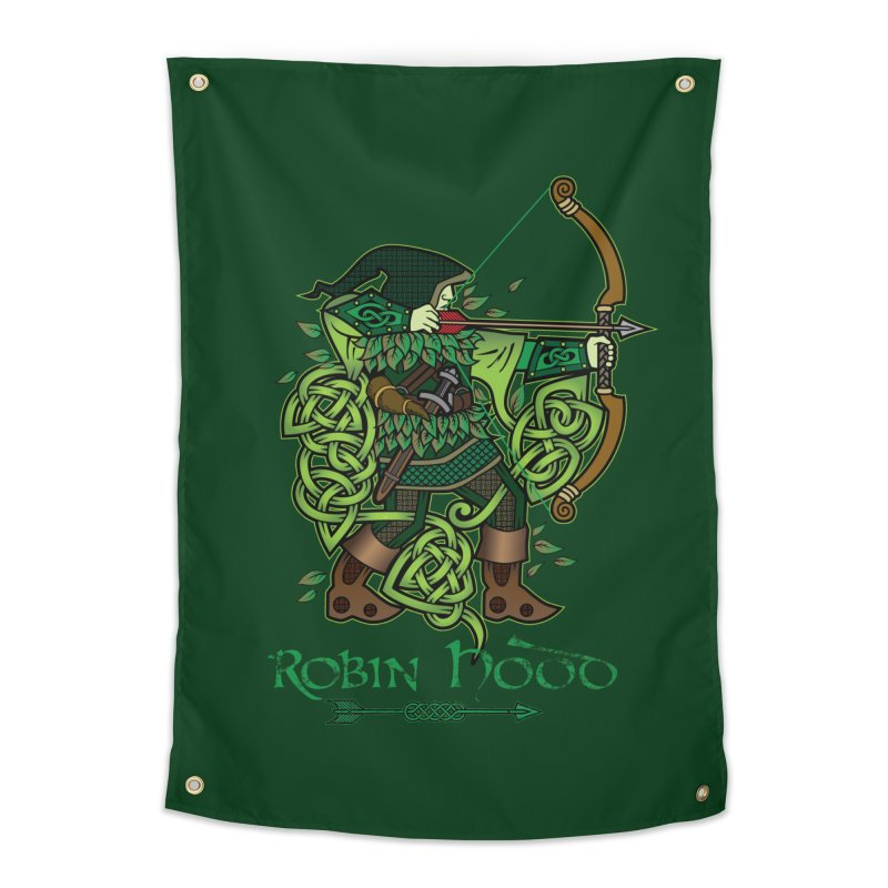 Robin Hood (Full Color Version) Home Tapestry by Celtic Hammer Club Apparel