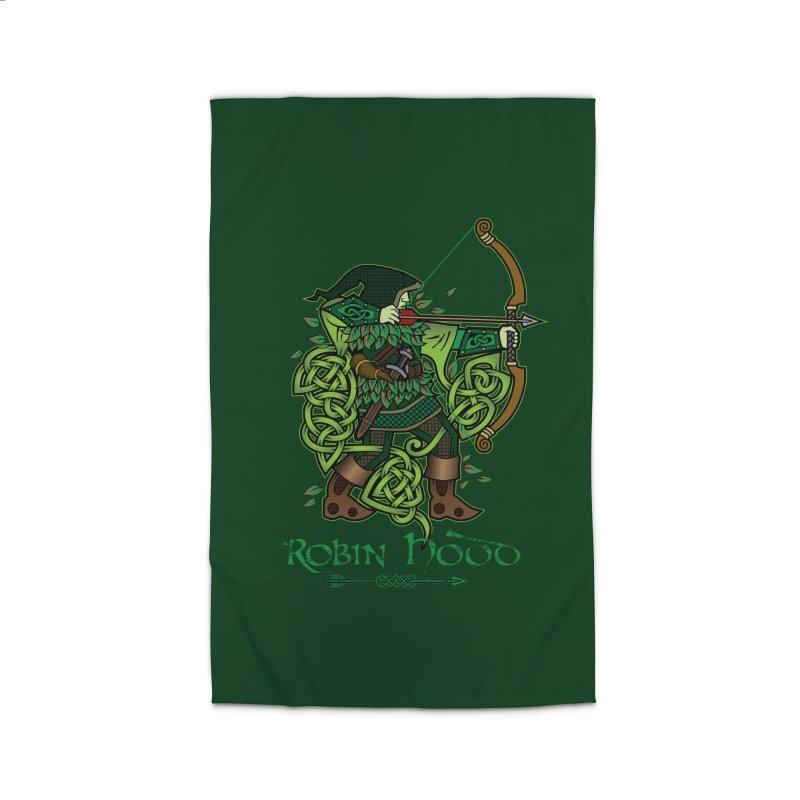 Robin Hood (Full Color Version) Home Rug by Celtic Hammer Club Apparel