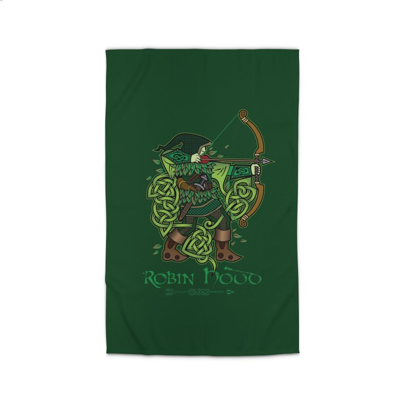 Robin Hood (Full Color Version) Home Rug by Celtic Hammer Club Apparel