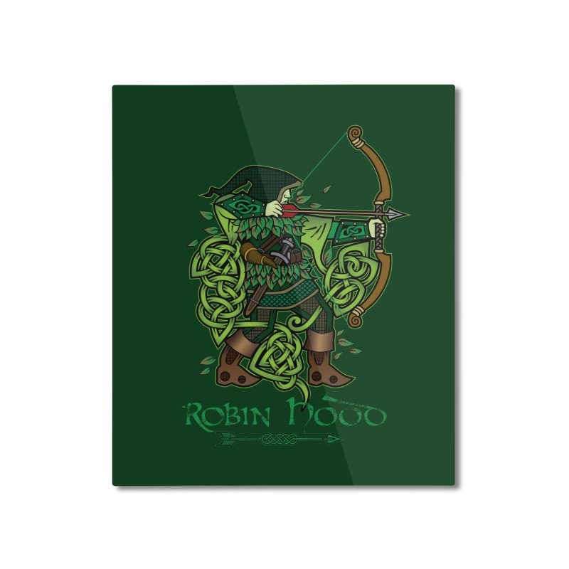 Robin Hood (Full Color Version) Home Mounted Aluminum Print by Celtic Hammer Club Apparel