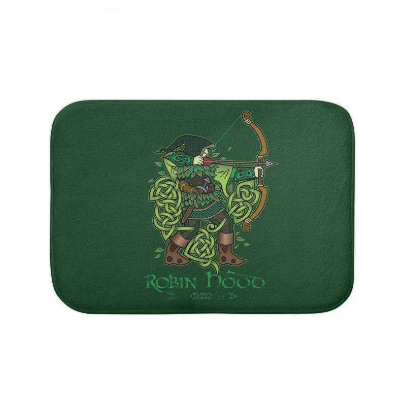 Robin Hood (Full Color Version) Home Bath Mat by Celtic Hammer Club Apparel